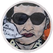 Carlos The Jackal Round Beach Towel