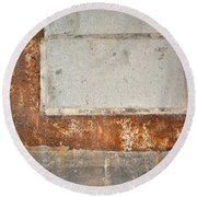 Carlton 14 - Abstract Concrete Wall Round Beach Towel