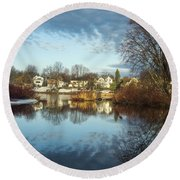 Carleton Place On The Mississippi - 18 Round Beach Towel