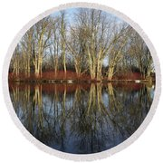 Carleton Place On The Mississippi - 38 Round Beach Towel