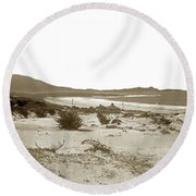 Carmel Beach, Carmel Point And Point Lobos Circa 1925 Round Beach Towel