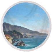 Carmel Coast 2 Round Beach Towel