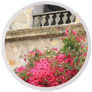 Carmel Mission Bell Round Beach Towel