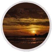 Carmel Sunset Round Beach Towel