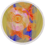 Carnival Abstract 1 Round Beach Towel