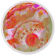 Carnival Abstract 2 Round Beach Towel