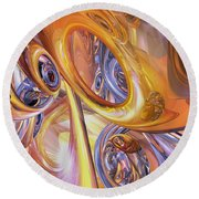 Carnival Abstract Round Beach Towel