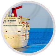 Carnival Cruise Ship Round Beach Towel
