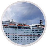Carnival Cruise Ship Round Beach Towel