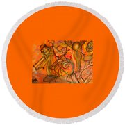 Carnival Round Beach Towel