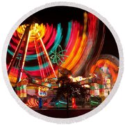 Carnival In Motion Round Beach Towel