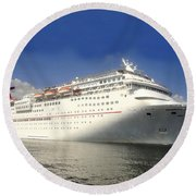 Carnival Inspiration Cruise Ship Round Beach Towel