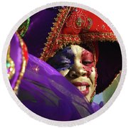 Carnival Personified Round Beach Towel