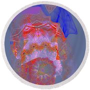 Carnival Abstract 3 Round Beach Towel