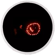 Carnival Smiley Face Round Beach Towel