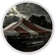 Carnival Tents Round Beach Towel