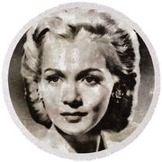 Carole Landis, Vintage Actress Round Beach Towel