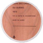 Carole Spandau Archived Liste Des Createurs Du Quebec 1972 Round Beach Towel