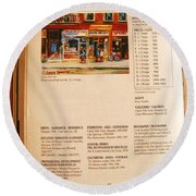 Carole Spandau Listed In  Magazin'art Biennial Guide To Canadian Artists In Galleries 2000-2001 Edit Round Beach Towel