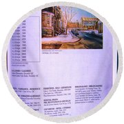 Carole Spandau Listed In Magazin'art Biennial Guide To Canadian Artists In Galleries 2002-2003 Edit Round Beach Towel