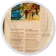 Carole Spandau Listed In Magazin'art Biennial Guide To Canadian Artists In Galleries 2006-2008 Edit Round Beach Towel