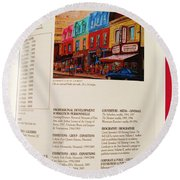 Carole Spandau Listed In Magazin'art Biennial Guide To Canadian Artists In Galleries 2009-2010 Edit Round Beach Towel