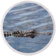 Carolina Beach Marina Alligator Round Beach Towel