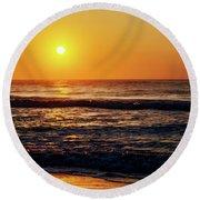 Carolina Beach Sunrise Round Beach Towel