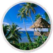 Caroline Islands, Pohnpei Round Beach Towel