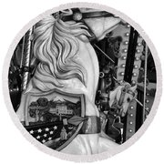 Carousel Beauty Salem Oregon 12  Round Beach Towel