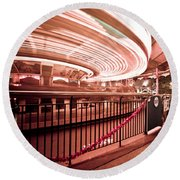 Carousel Lights #2 Round Beach Towel