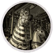 Carousel Zebra Round Beach Towel