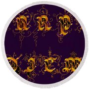 Carpediem Redgold Round Beach Towel