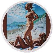 Carpenteria Nude Beach Round Beach Towel