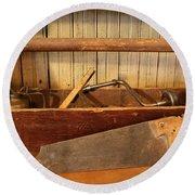 Carpenter's Toolbox - Not Free Do Not Copy Round Beach Towel