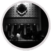 Carriage Ride At The Casa Monica Round Beach Towel