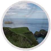 Carrick Island From Portaneevey Round Beach Towel