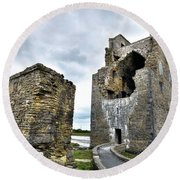 Carrigafoyle Castle - Ireland Round Beach Towel