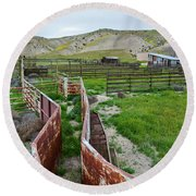 Carrizo Plain National Monument Ranch Round Beach Towel