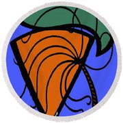 Carrot And Stick Round Beach Towel