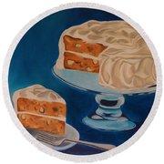 Carrot Cake Round Beach Towel
