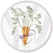 Carrot Harvest Round Beach Towel