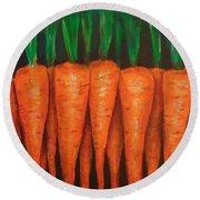 Carrots Round Beach Towel