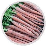 Carrots, Harvest Round Beach Towel