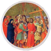 Carrying Of The Cross 1311 Round Beach Towel