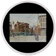 Carson Street Southside Pittsburgh Round Beach Towel