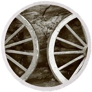 Cart Wheels Round Beach Towel
