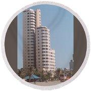 Cartagena Towers Round Beach Towel