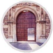Carthusian Monastery Granada Round Beach Towel