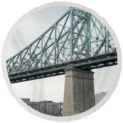 Cartier Bridge Day Round Beach Towel